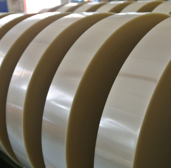 Flexible film polyester based