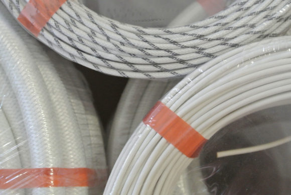 Glass-silicone cable